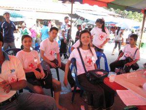 Gesundheitsposten der Rotkreuz-Freiwilligen