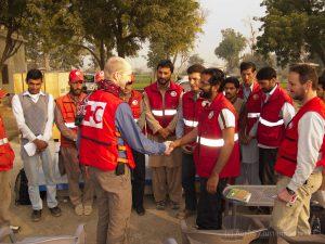 Rotkreuz-Arbeit in Pakistan