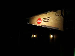 MSB-Trainingscenter in Revingeby am Abend
