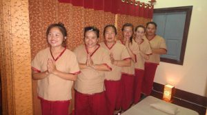 Picture: made by Annett Weidner, AutRC delegate, 20.6.2012, reopening sauna/massage house in Houay Xai, Bokeo
