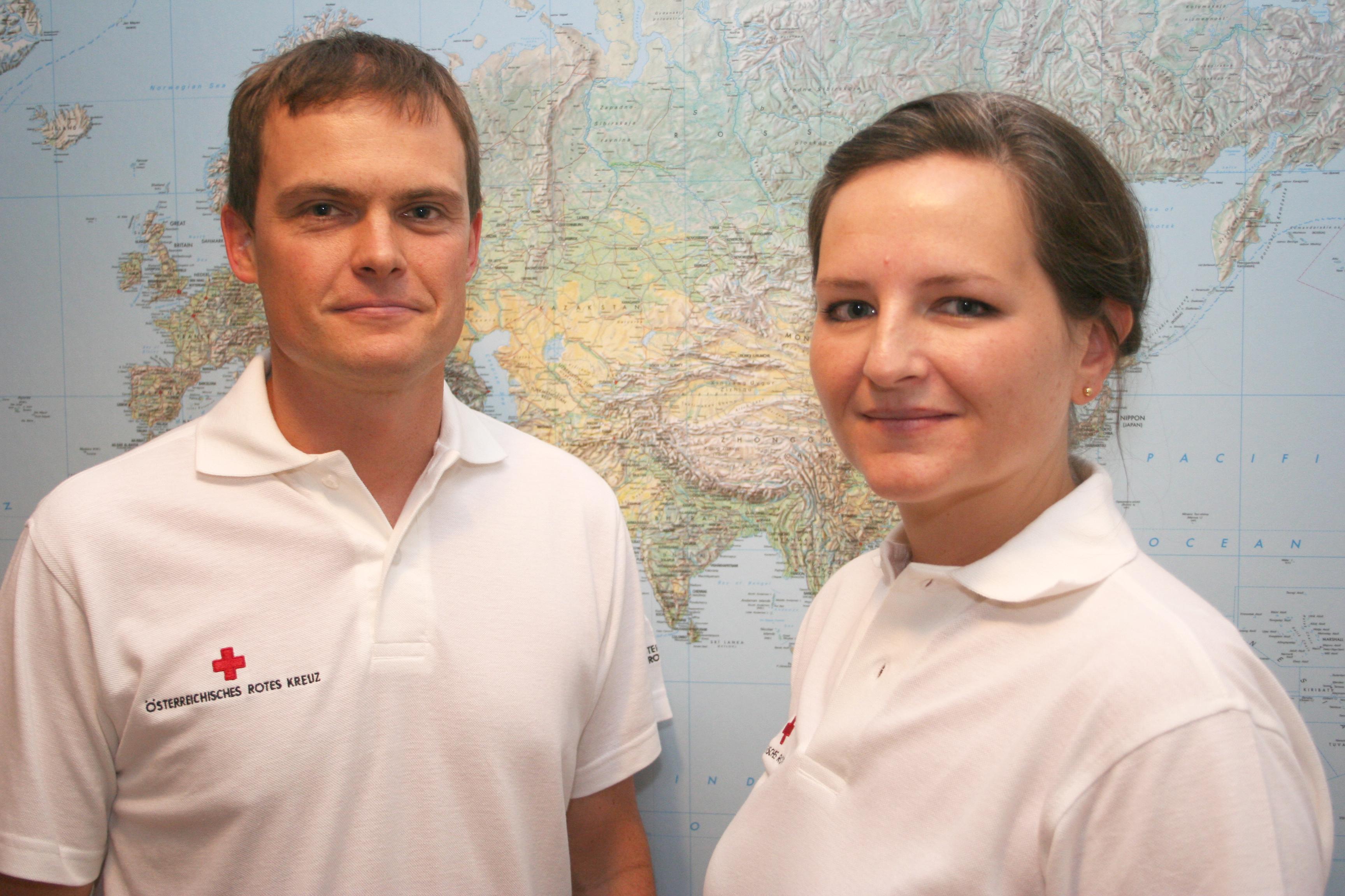 Andrea Reisinger und Christopher Jahn vom Österreichischen Roten Kreuz sind seit dem 5. August im Libanon um Flüchtlingen aus Syrien zu helfen. ©Thomas Marecek/ÖRK