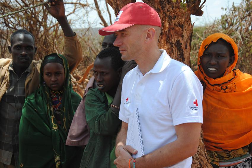 Rotkreuz-Delegierter Klaus Palkovits in Äthiopien