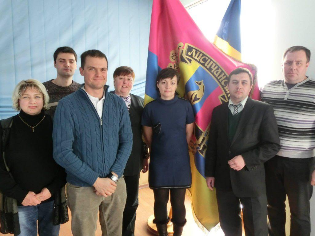 Meeting mit dem Bürgermeister im ostukrainischen Severodonetsk