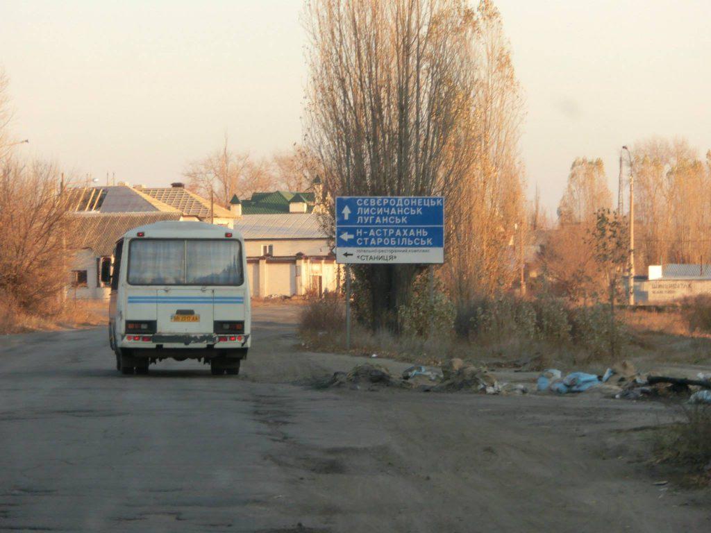 Auf der Fahrt in die Ostukraine