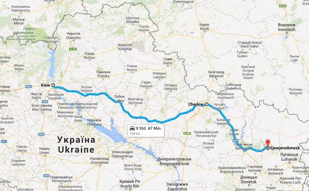 Die Anreise dauert - immer wieder Unterbrochen von Checkpoints - doch länger, als sich das Google-Maps ausmalt.