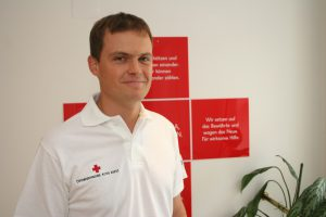 Christopher Jahn ist Rotkreuz-Delegierter und Koordiniert die Hilfsaktion im Osten der Ukraine.