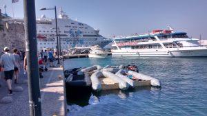 Flüchtlingsboote Kos Hafen